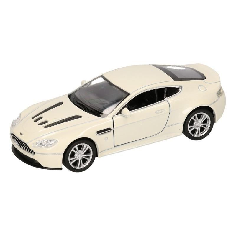 Speelgoedauto Aston Martin Vantage V12 wit 12 cm