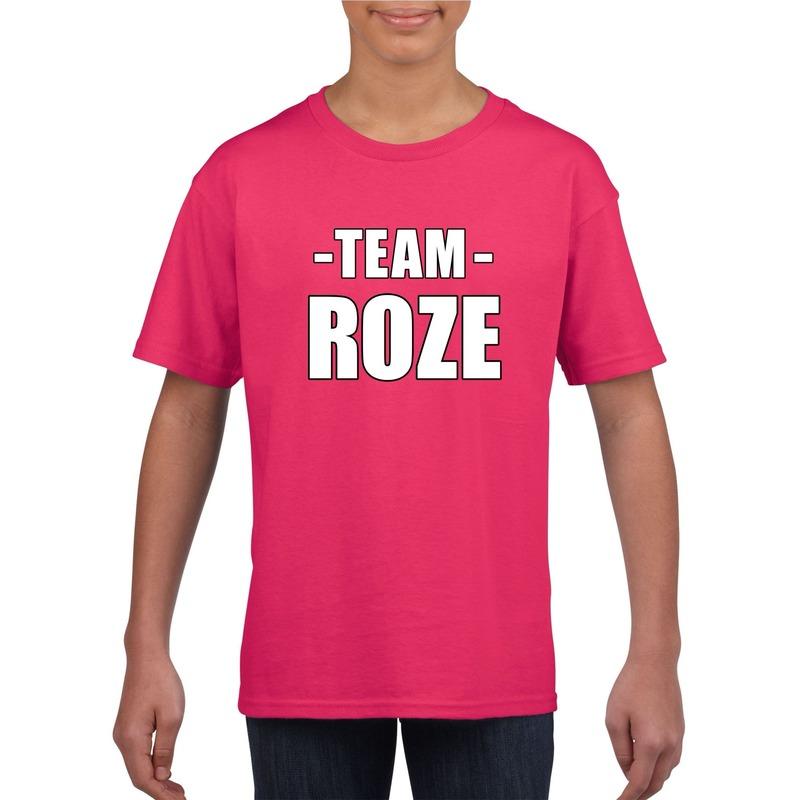 Sportdag shirt Team roze kinderen