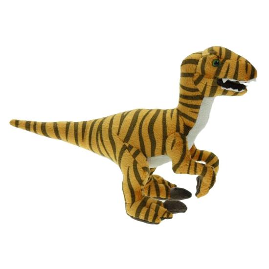 Staande dino raptor knuffel 32 cm