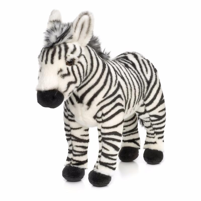 Staande zebra knuffels 23 cm