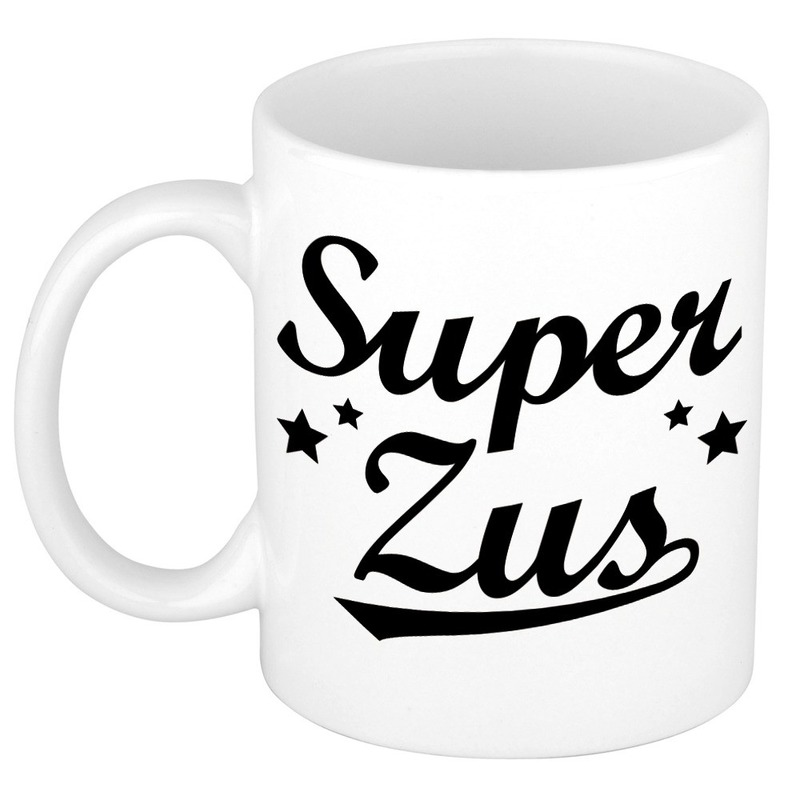 Super zus cadeau mok / beker sterren 300 ml