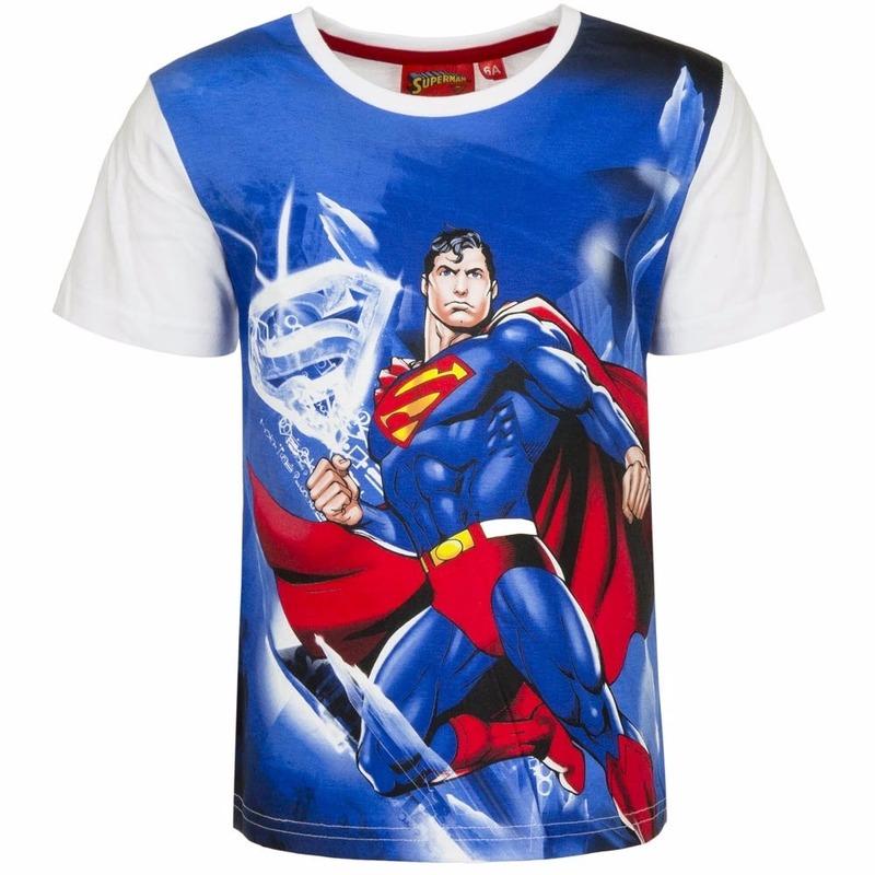 Superman T-shirt witte mouw