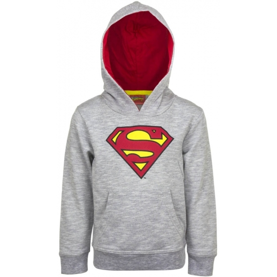 Superman trui grijs met capuchon