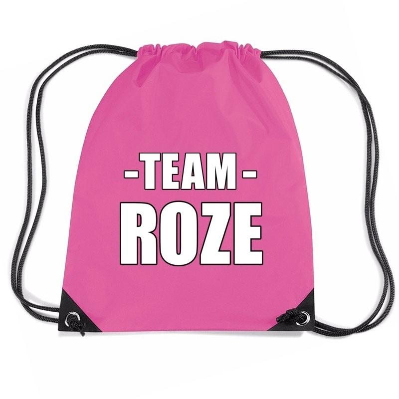 Team roze rugtas voor bedrijfsuitje fuchsia