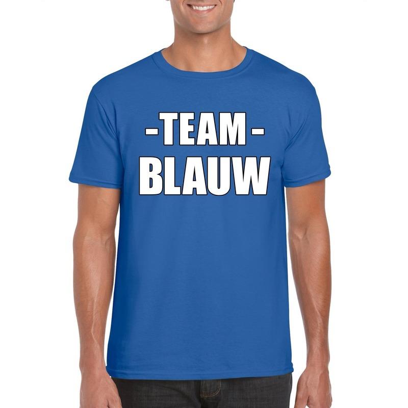 Team shirt blauw heren voor bedrijfsuitje