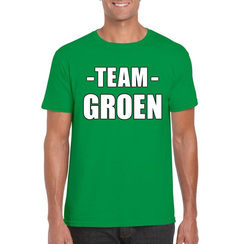 Team shirt groen heren voor bedrijfsuitje