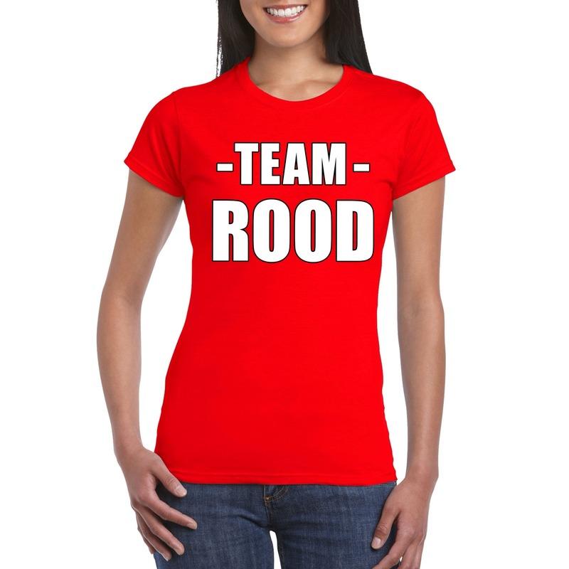 Team shirt rood dames voor bedrijfsuitje