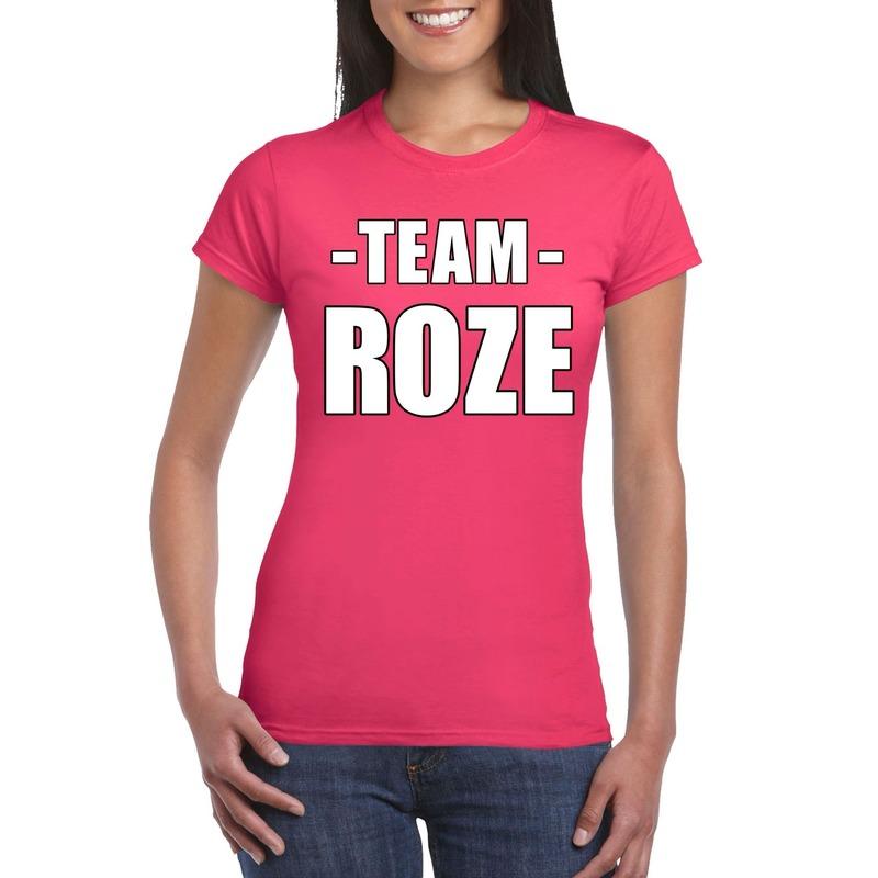 Team shirt roze dames voor bedrijfsuitje