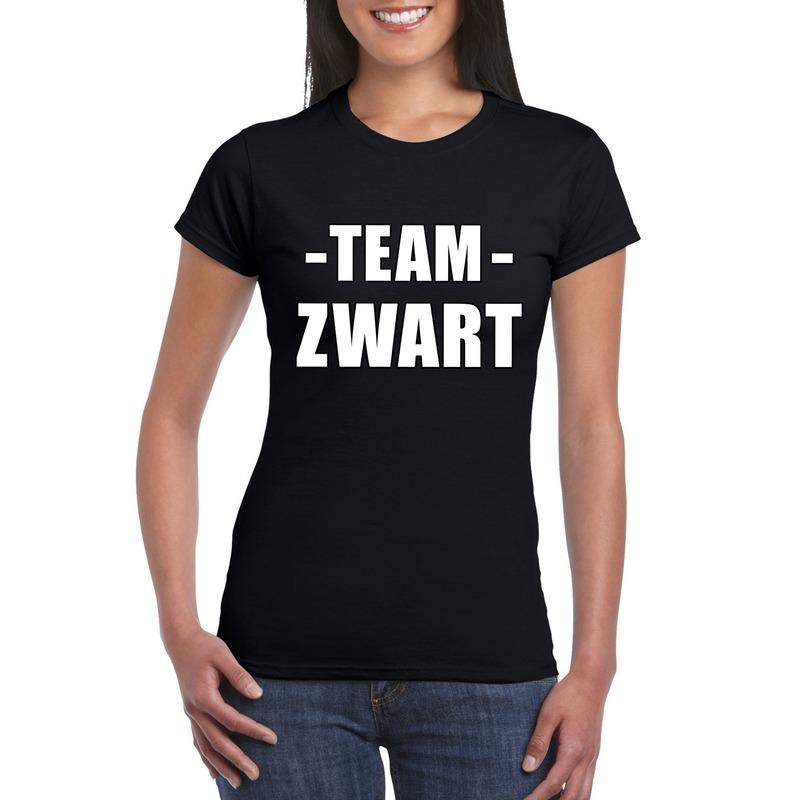 Team shirt zwart dames voor bedrijfsuitje