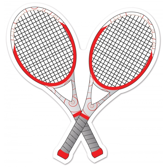 Tennis feest racket decoratie 25 cm