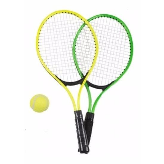 Tennis set groen-geel voor kinderen
