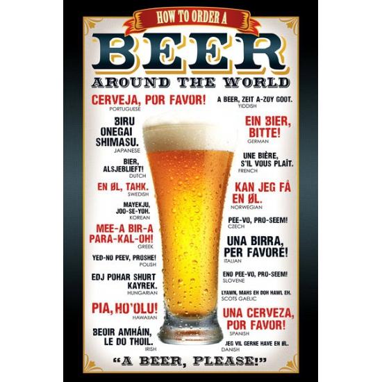 Themafeest bier poster 61 x 91,5 cm