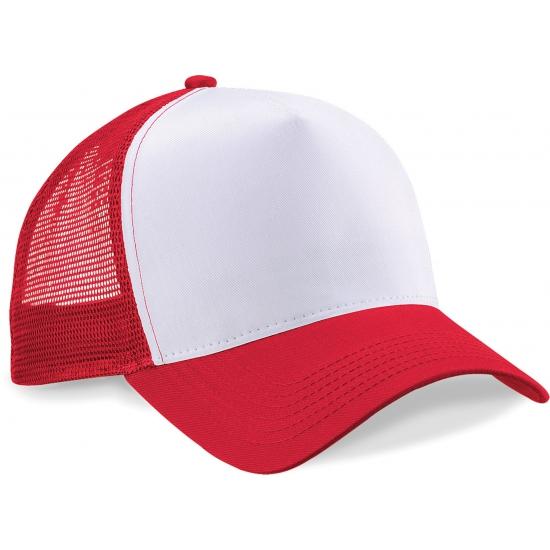 Truckers pet rood/wit katoen