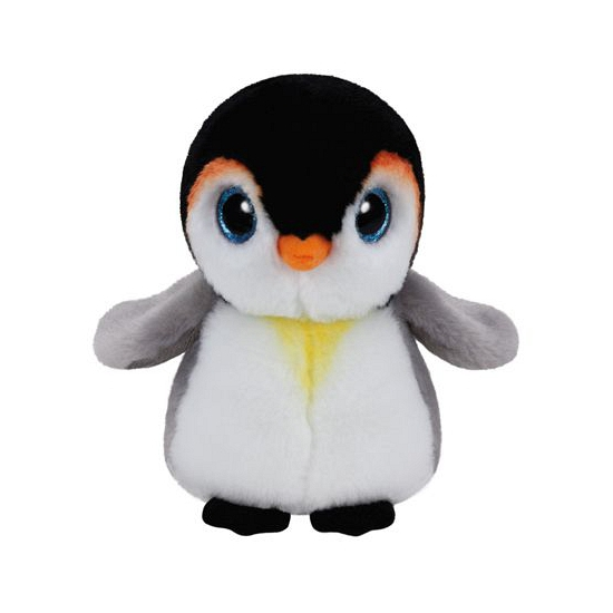 Ty Beanie knuffeltje pinguin met kraalogen 15 cm