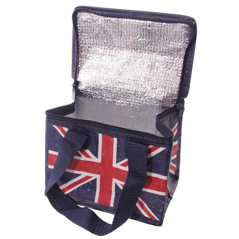 Union Jack/United Kingdom print blikjeskoeler koeltassen voor sixpack/6 blikken