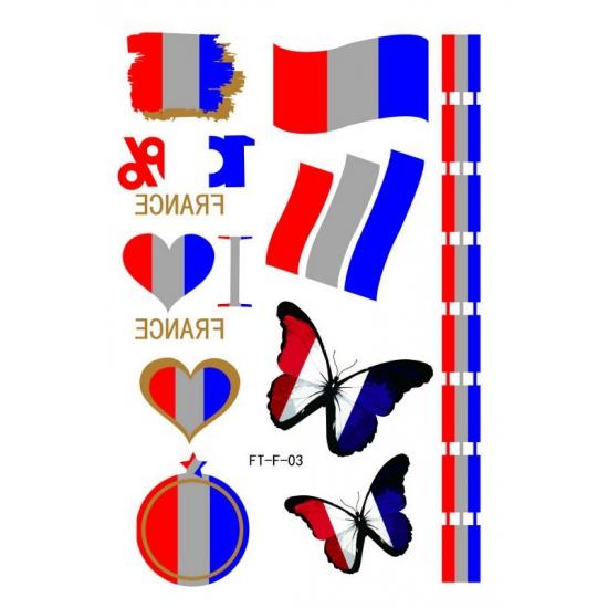 Velletje met Frankrijk 3D tattoos