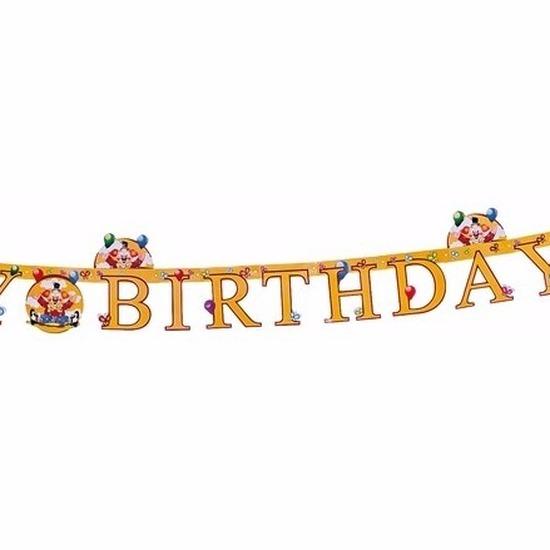 Verjaardags slinger Happy Birthday met circus thema 165 cm
