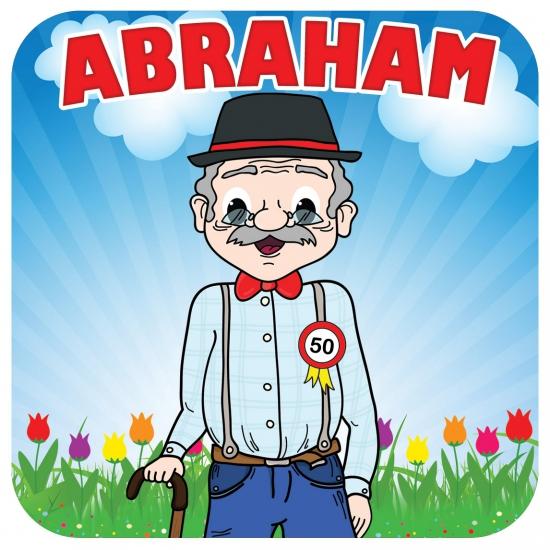 Vierkante bierviltjes Abraham