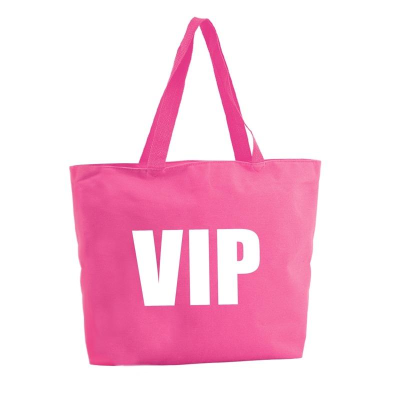 VIP shopper tas fuchsia roze 47 cm