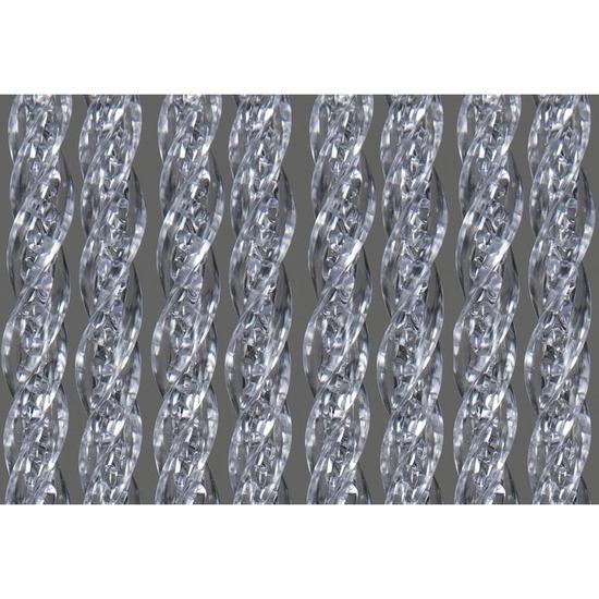 Vliegenwerend deurgordijn transparant 90 x 220 cm