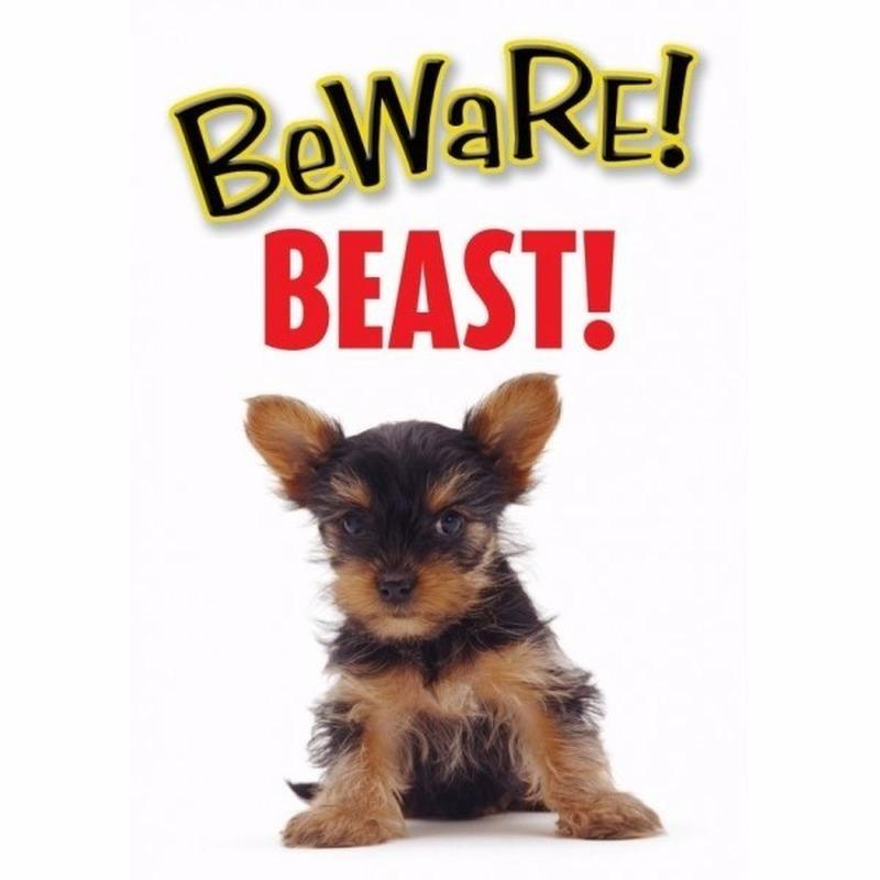 Waakbord Beast hond