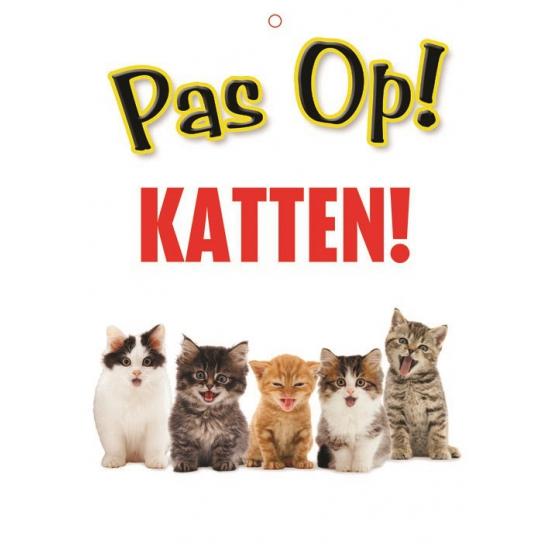 Waakbord pas op Katten