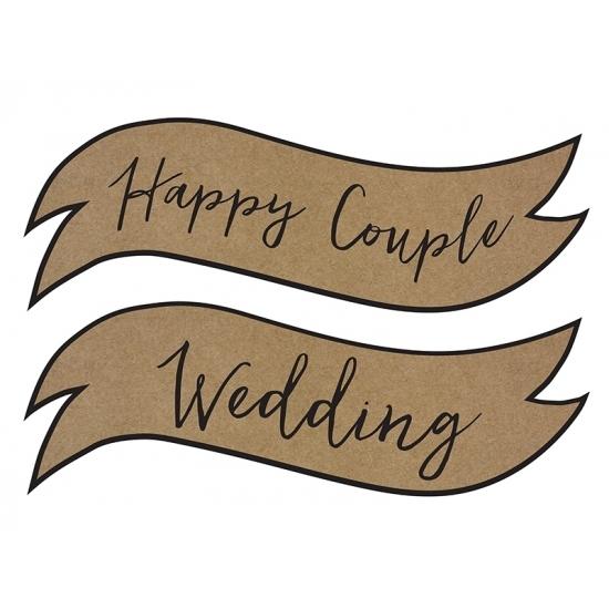 Wanddecoratie Happy Couple Wedding