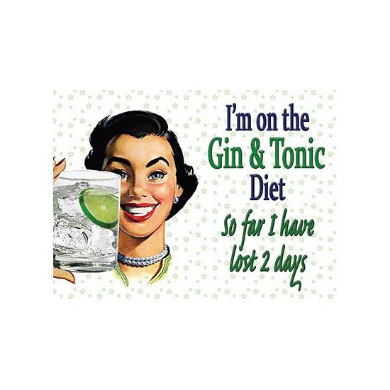 Wandplaatje Gin dieet