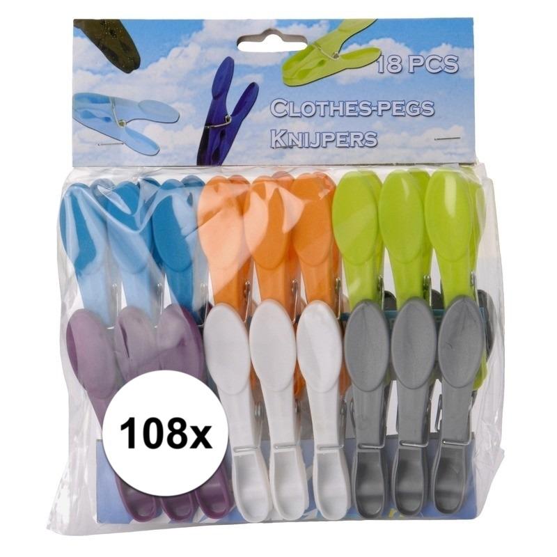 Wasknijpers plastic 108 stuks