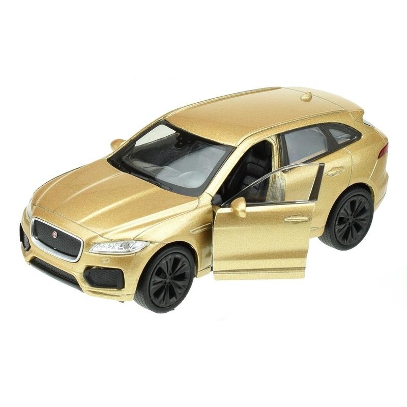 Welly modelauto Jaguar F-pace goudkleurig 1:34