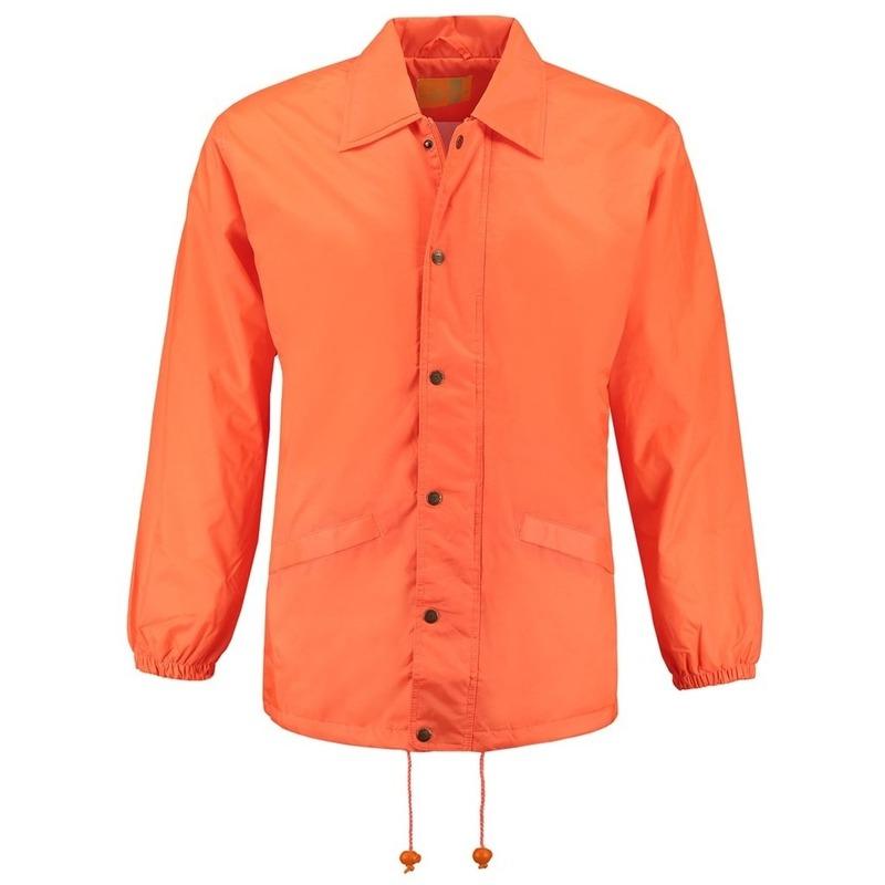 Windjack oranje volwassenen