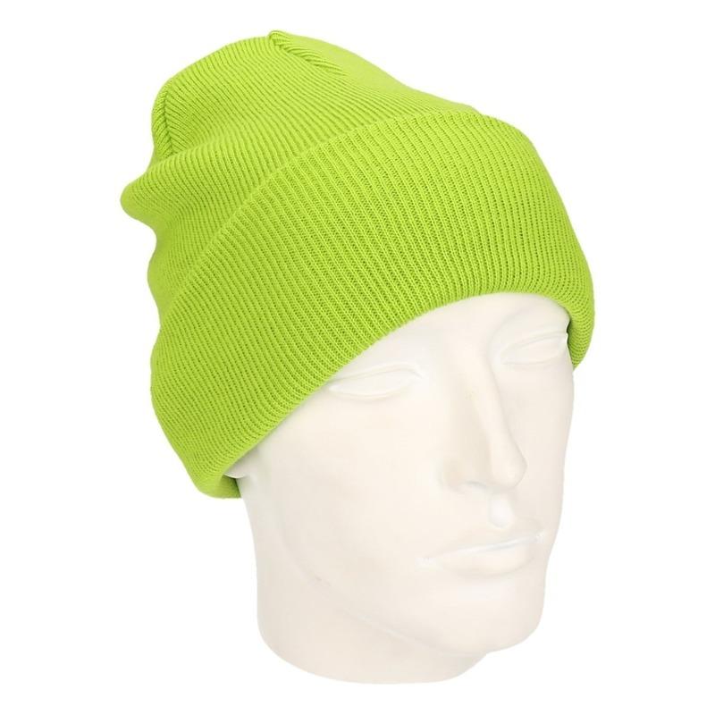 Winter muts voor volwassenen Lime groen