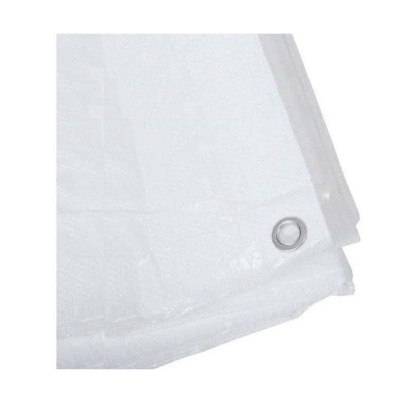 Wit afdekzeil-dekzeil 5 x 6 meter