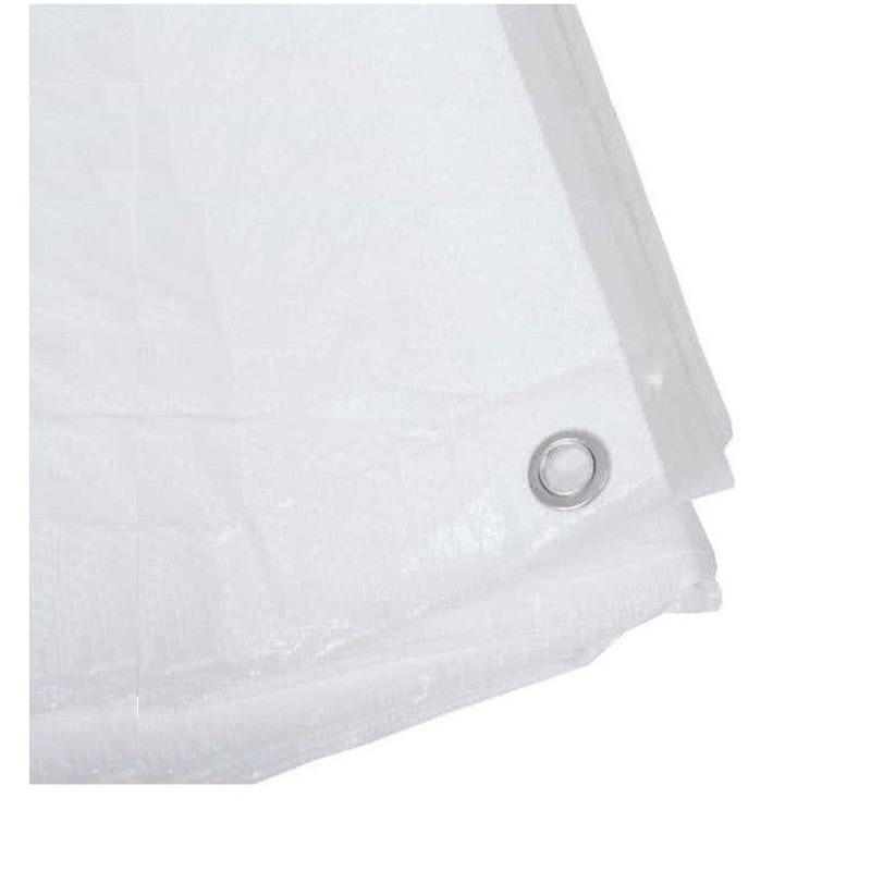 Wit afdekzeil-dekzeil 6 x 10 meter