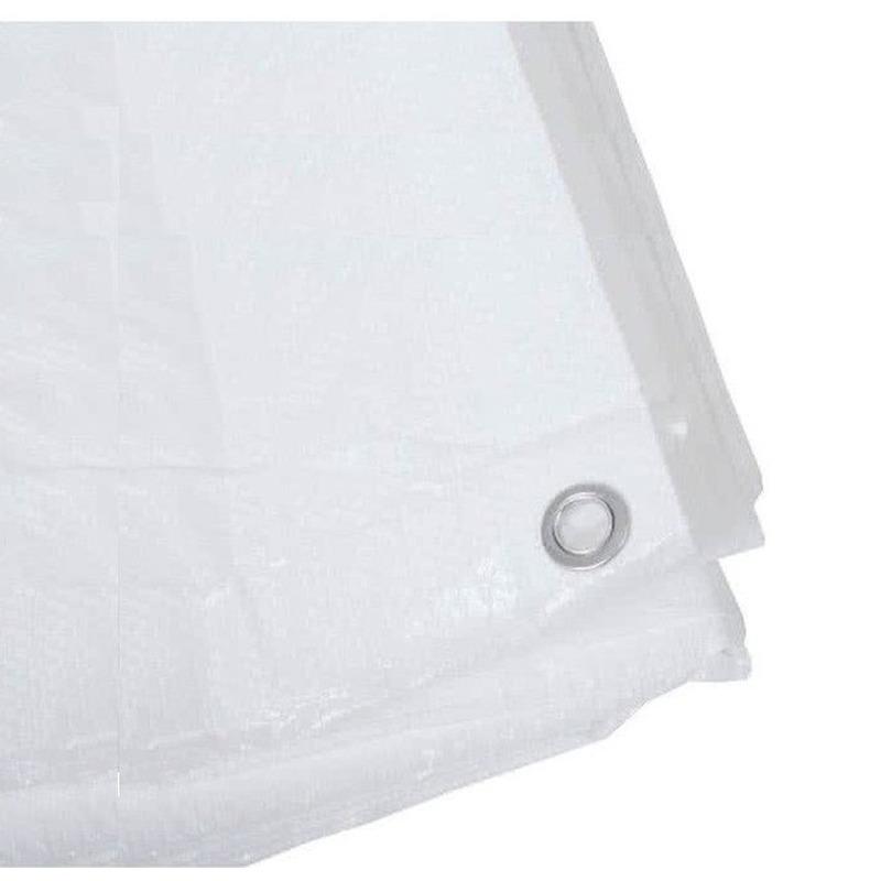 Wit afdekzeil-dekzeil 8 x 10 meter