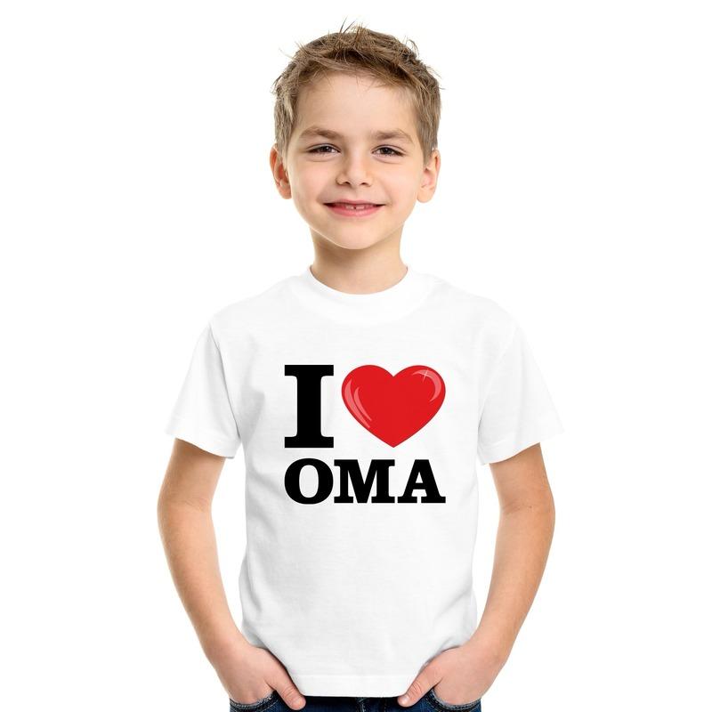 Wit I love Oma t-shirt kinderen