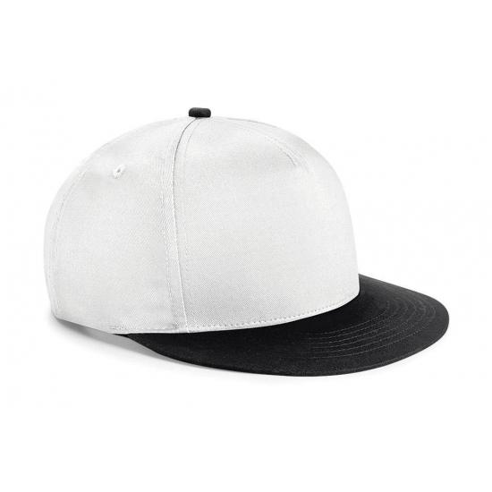 Wit/zwarte retro baseball cap voor kinderen