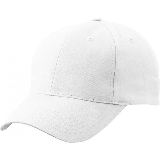 Witte baseball cap van katoen