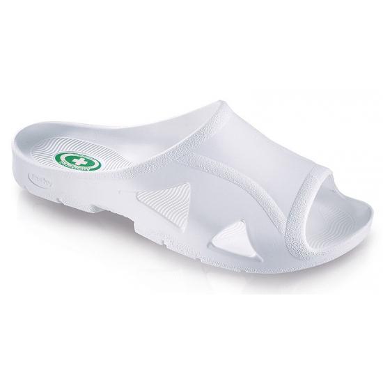 Witte bio slippers voor mannen