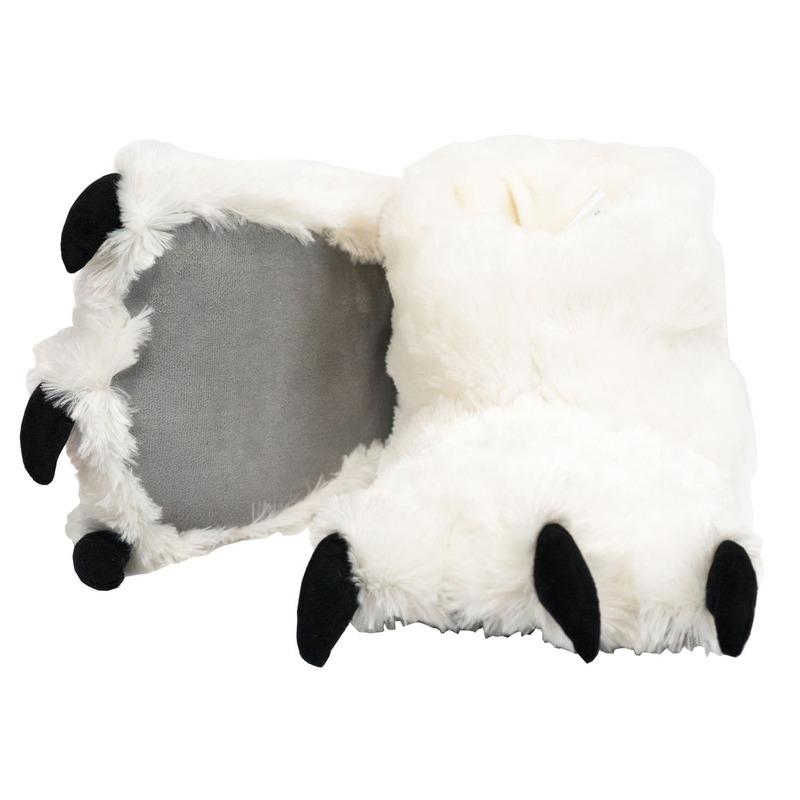 Witte ijsbeer poten pantoffels voor kinderen