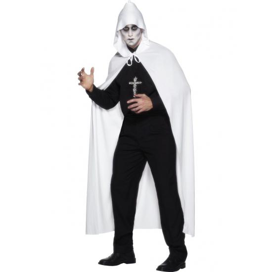 Witte omslag cape van 119 cm