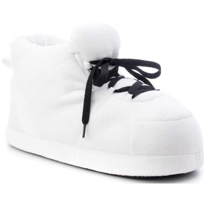 Witte sneaker model sloffen/pantoffels voor dames