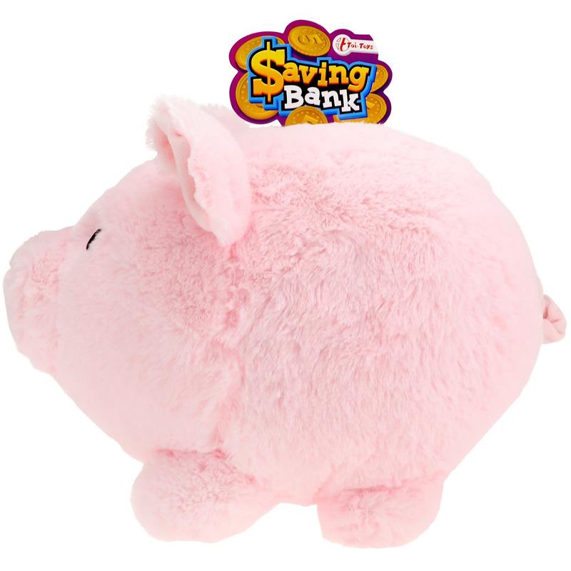 XXL pluche spaarpot varken-spaarvarken roze 40 cm