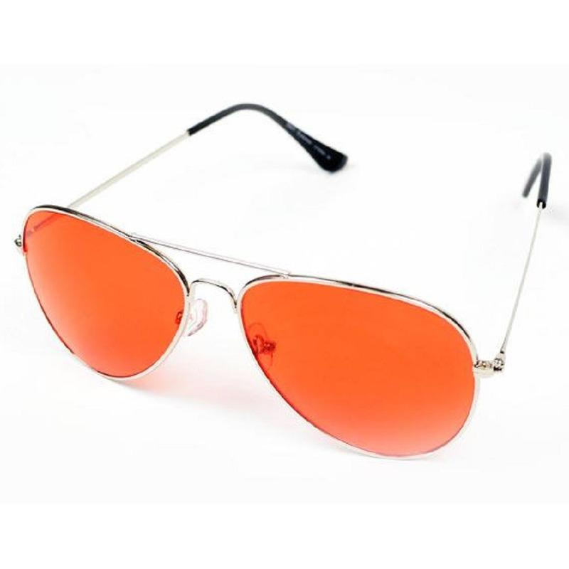 Zilveren aviator bril voor dames/heren