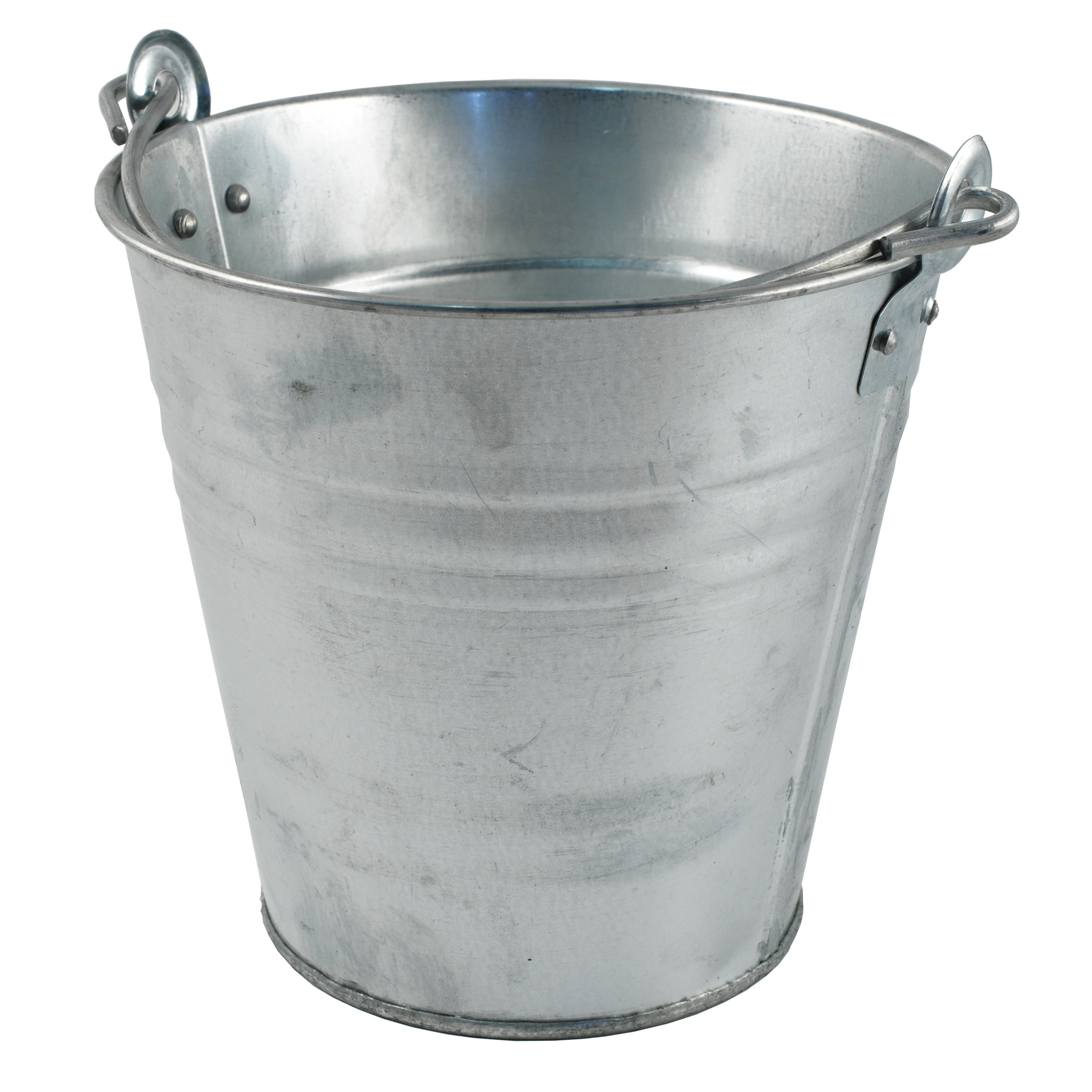 Zinken emmer-bloempot-plantenpot 10 liter