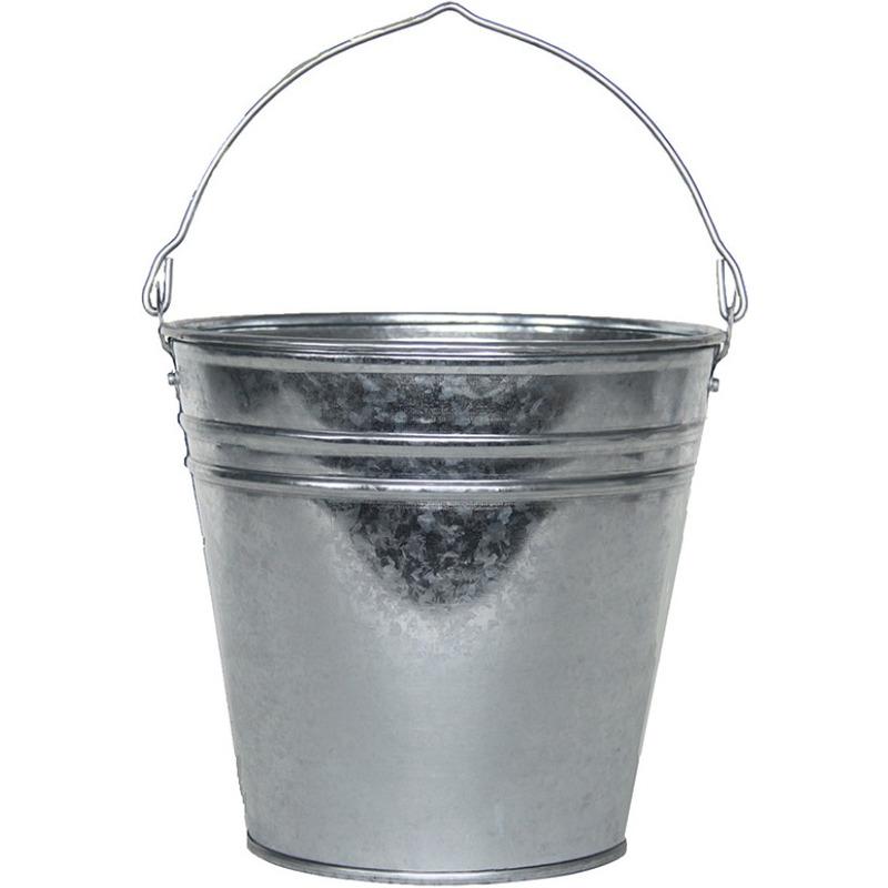 Zinken emmer-bloempot-plantenpot 6 liter