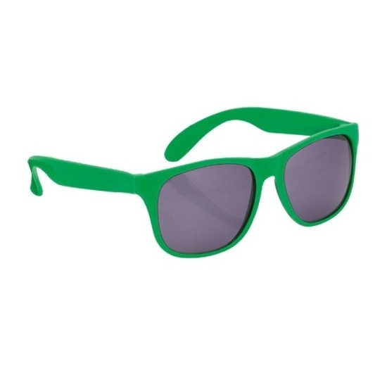 Zonnebril met kunststof groen montuur