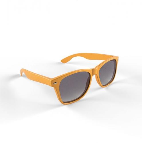 Zonnebril met kunststof oranje montuur