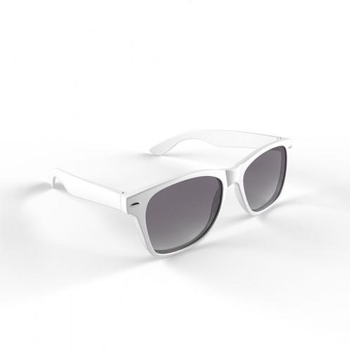 Zonnebril met kunststof wit montuur
