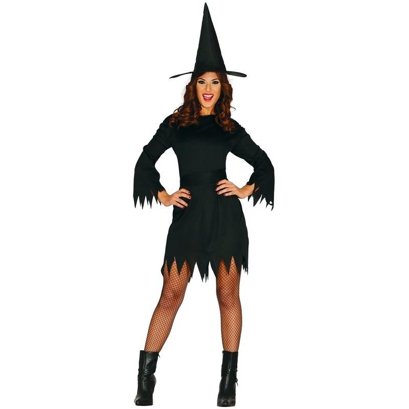 Zwart heksen kostuum voor dames